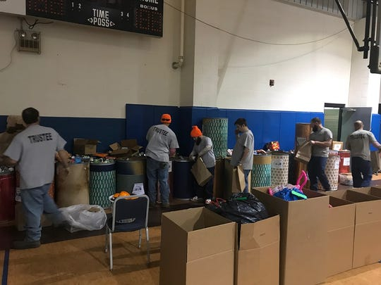 Henderson County jail trustees organize Angel Tree donations and food boxes for the Salvation Army (December 2019).