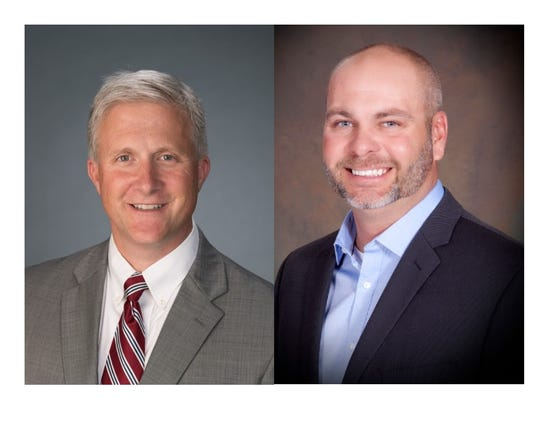 Rob Wiederstein, left, and Jonathan Dixon, right, are running for the District 11 Kentucky House seat that represents parts of Henderson and Daviess counties.