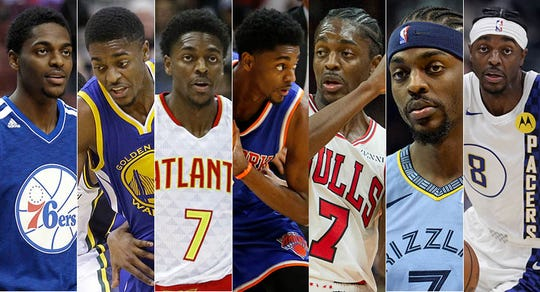 Justin Holiday has played for (deep breath): Philadelphia, Golden State, Atlanta, New York, Chicago (twice), Memphis and Indiana