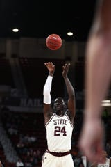 Mississippi State center Abdul Ado led the Bulldogs to victory over Radford on Wednesday.