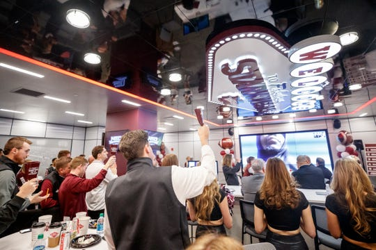 STARKVILLE, MS - DECEMBER 18, 2019 - The 2020 Football National Signing Day celebrations at Davis Wade Stadium at Scott Field in Starkville, MS. Photo By Austin Perryman