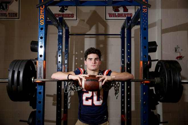 Harrison's Quinton Wood is the 2019 Journal & Courier Big School Defensive Football Player of the Year.