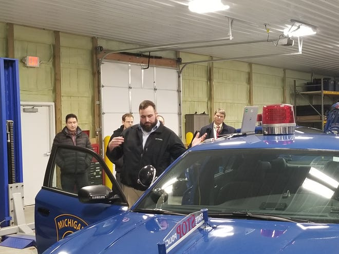 U.S. Army automotive engineers demonstrated the results of research conducted by the U.S. Army CCDC Ground Vehicle Systems Center and the Michigan State Police on a MSP patrol vehicle on Dec. 6, 2019. The organizations are studying ways to keep vehicle systems more secure from harmful attacks or unauthorized access.