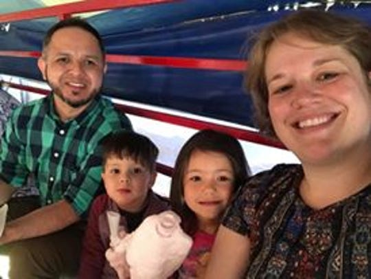 Eddie and Tammy Villavicencio appear in a 2018 family photo with their son, Israel, and daughter, Kindred.