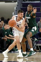 Northwestern grad transfer Pat Spencer, formerly the nation's top collegiate lacrosse player, has become the catalyst for the Wildcats in a season of transition. Spencer, who's averaging 11.1 points and 3.9 assists, had just four points in 19 minutes in the first meeting with the Spartans this season.