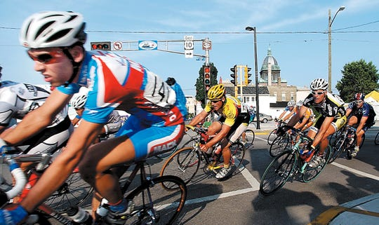 Maritime Bay Classic bike race in downtown Manitowoc.