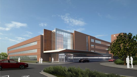 This is an architect's rendering depicting the new patient care addition being built at OhioHealth Marion General Hospital.