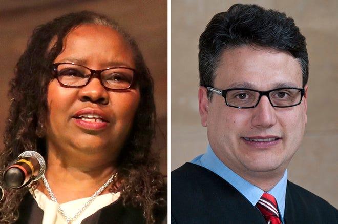 Judge Maxine White and Judge Pedro Colon