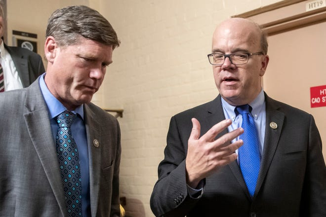 In this 2018 photo, U.S. Rep. James P. McGovern, D-Mass. right, talks with Rep. Ron Kind, D-Wis., left, at the Capitol in Washington. Kind was the only member of Wisconsin's delegation not saying in advance whether he would vote to impeach Republican President Donald Trump. He voted yes on both articles of impeachment Wednesday.