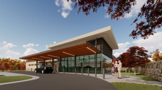 This artist's rendering depicts the patient drop off at Baxter Regional Medical Center's outpatient surgery center. Hospital officials broke ground on the 23,000 square-foot facility on Wednesday.