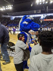 John Pittard Elementary basketball team players are honored at the Murfreesboro City Schools day at an MTSU basketball game. A video of team manager Jaiden Dickson, who has special needs, getting a basketball goal with help from the opposing team.