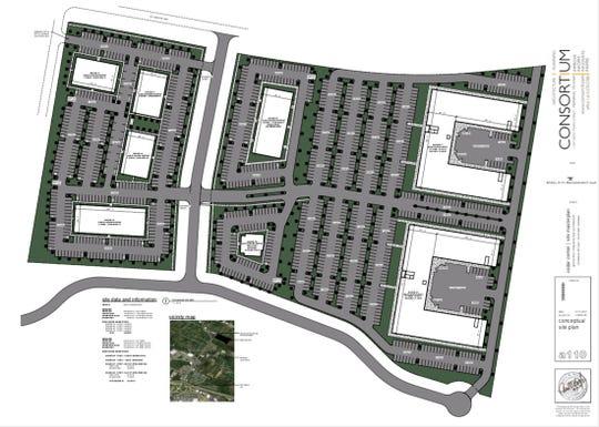 A rendering of the Cedar Center project in Mt. Juliet.