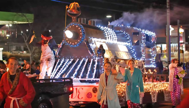 The iconic 'Polar Express' train entry by Old Path Baptist Church won the Best in Show award for the 2019 Fairview Storybook Christmas Parade, Dec. 14, 2019.