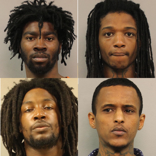 From top left, clockwise: Charles Braden, Santez Bradford, Aweis Haji-Mohamed and Marquis Brandon