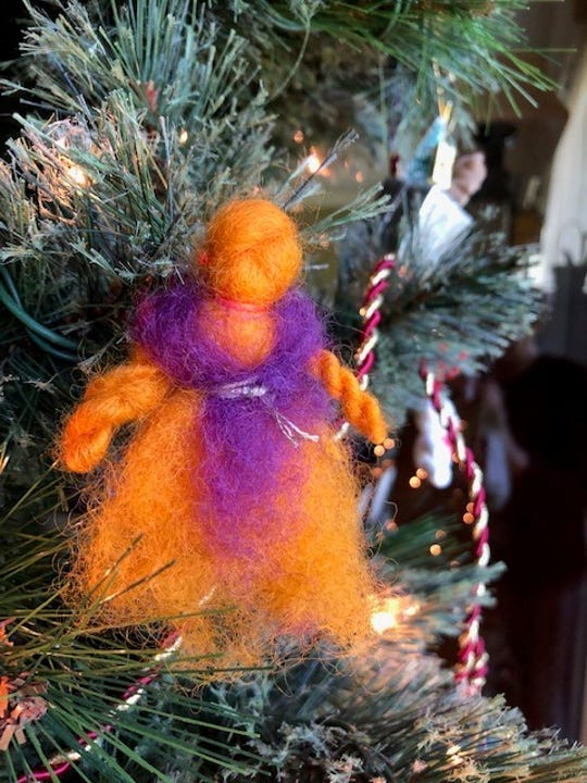 Jody Horein's granddaughter made this ornament out of whool.