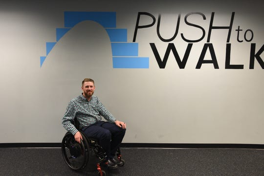 Darren Templeton, co-founder and client of Push to Walk was left paralyzed when he dove into shallow water at age 18.