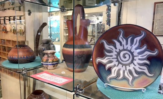 You will find a variety of southwestern pottery on your visit to the Deming-Luna-Mimbres Museum gift shop.