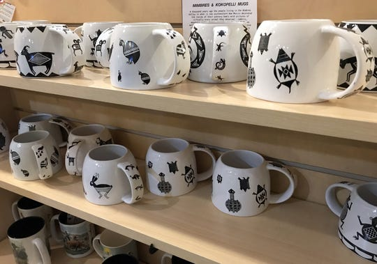 Southwest coffee mugs are selling well at the Deming-Luna-Mimbres Museum gift shop.