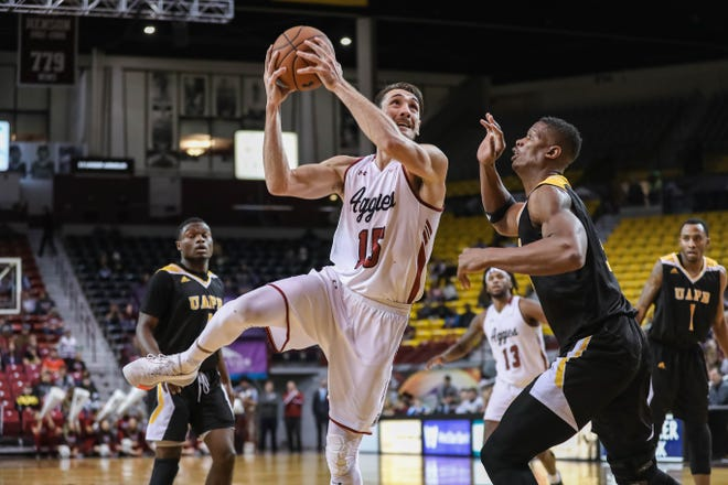 Senior forward Ivan Aurrecoechea is one of the top players for the New Mexico State men's basketball team.