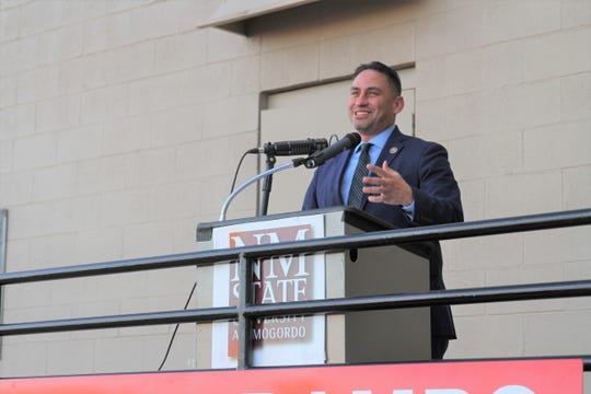 New Mexico Lt. Gov. Howie Morales spoke to Alamogordo area residents and politicians Wednesday afternoon at the grand opening of Medlin's new facility at 1900 Highway 54 South.