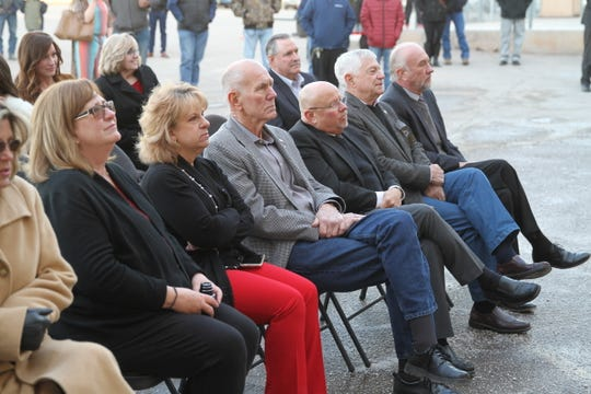 Alamogordo city commissioners Nadia Sikes and Susan Payne, Alamogordo Mayor Richard Boss, District 33 Sen. William Burt (R-N.M.) and District 34 Sen. Ron Griggs (R-N.M.) attended the official grand opening of Medlin Ramps in Alamogordo on Wednesday afternoon.