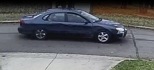 Livonia police say this is the suspect vehicle in a Deering Street drive-by shooting.