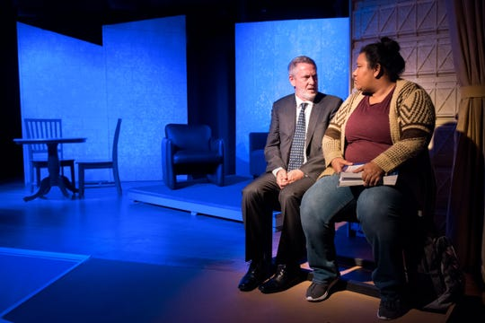 "David Youse and Desireé Clarke form an unusual friendship in Dezart Performs' production of ""White Guy on the Bus."""
