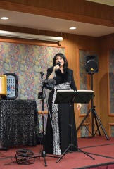 The evening's entertainment was provided by vocalist Deena Ashley.