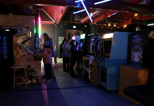 Glitch Palm Springs features arcade games in Palm Springs, Calif., on Wednesday, December 18, 2019.