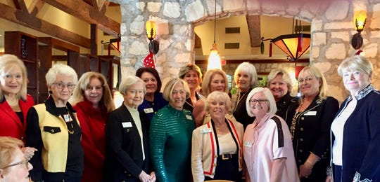 The luncheon was well attended, including (first row) Dr. Susan Murphy, Jan Elfine, guest, Norma Bennett, Sandy Dyer, Beverly McKeon, Georgi Duval. (second row) Joan Tegan, Mary Randall, Debbie Cox, Linda Stewart, Vicki Pollardy, Cindy Hahesy-Navarrete and guest.