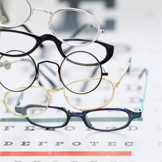 Gently used eyeglasses are donated and then refurbished by the Lions Club.