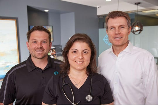 Left to right: The physicians of Elevated Health in Huntington Beach include Dr. Matthew Abinante, Dr. Paul McKinley, and Dr. Lucy Pun.