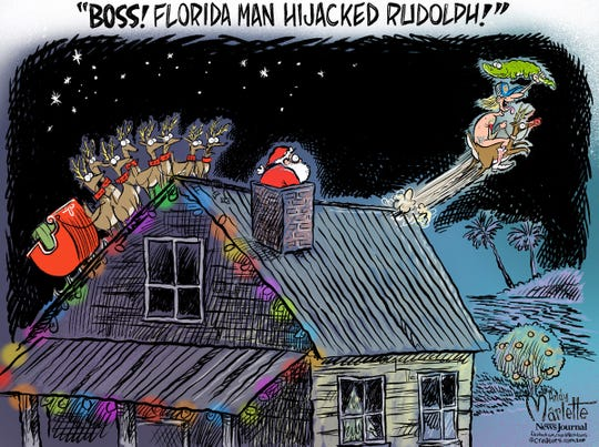 Florida Man hits home for the holidays!