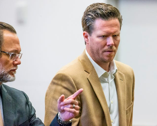 Paul Petersen appears with his attorney, Kurt Altman, left, in Maricopa County Superior Court on Dec. 19, 2019.