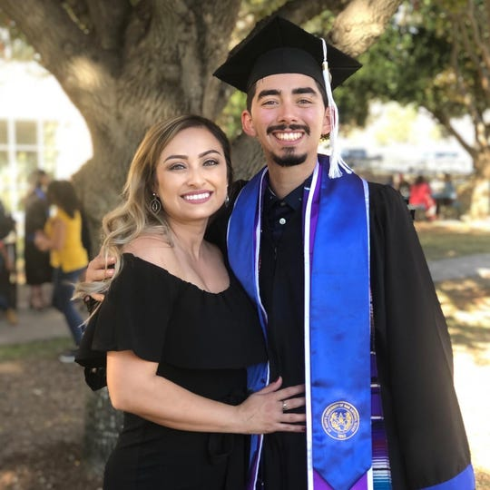 Andre Grajeda's Arizona family traveled to San Antonio in December to see him achieve his and his family's dream of graduating from college.