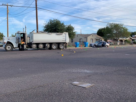 Phoenix police investigated a fatal collision in south Phoenix near Seventh Avenue and Alta Vista Road on Dec. 18, 2019.