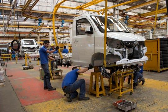 Vista general de una planta ensambladora de Giant Motors y JAC Motors el miércoles 2 de febrero de 2017, en Hidalgo (México).