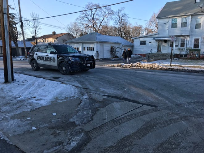 Police presence at a shooting incident near Washington Street on Thursday afternoon.