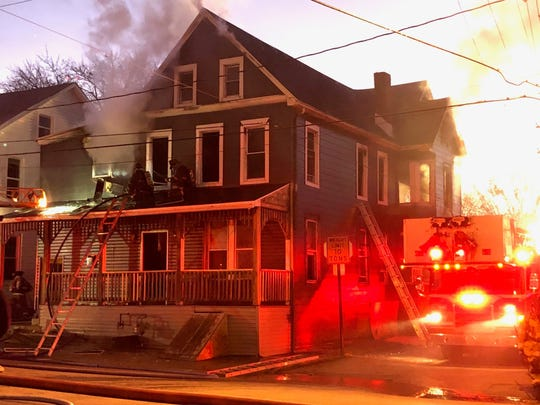 A family of three was displaced by a fire at an apartment building in West York Thursday, Dec. 19, a