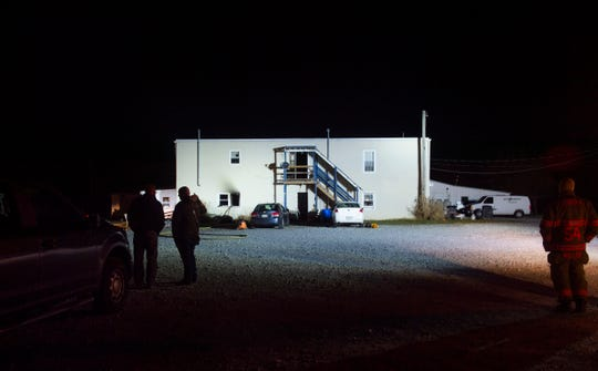 Emergency crews respond to an apartment fire with entrapment at 501 Marsteller Road in Hopewell Township that left one dead on Wednesday, Dec. 18.