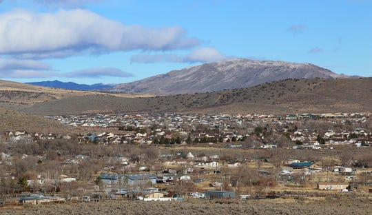 The town of Cold Springs, located just to the northwest of Reno, is seen on Dec. 19, 2019.