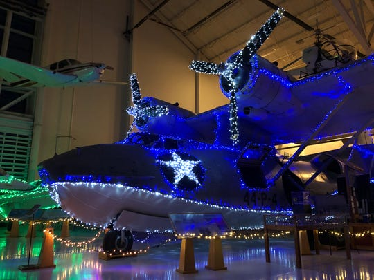This is the first year for the Holidays at the Hangar: Indoor Winter Lights Festival at the Evergreen Aviation & Space Museum.