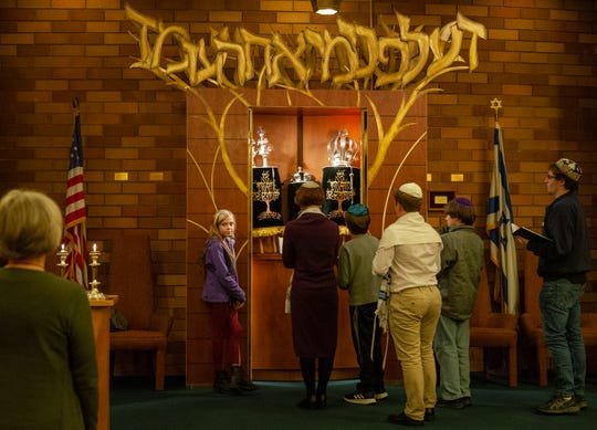"""Once a month the Temple Beth El allows the youth to take part in the weekly Shabbat service. """"It's an opportunity for them to lead the prayers and for younger students it's an opportunity for them to learn from the older students,"""" said Bruner."""