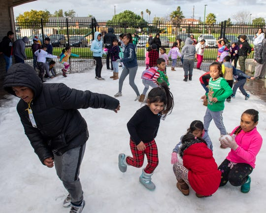 The Cesar Chavez library host the 5th annual Snow Day on Wednesday, Dec. 18, 2019.This free event brings families from around Salinas together to celebrate the holidays.