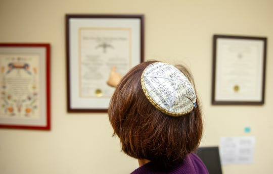 Margaret Bruner, is the Cantor of the Temple Beth El.