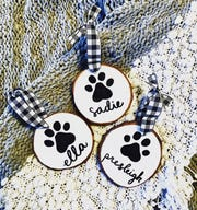 These custom farmhouse pet ornaments can be found on Sidney Smith Design's Etsy page.
