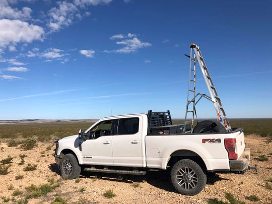 San Angelo hunter Greg Simons said he had to leave his spotting ladder behind to make room for the massive mule deer he shot in Culberson County on Nov. 4.
