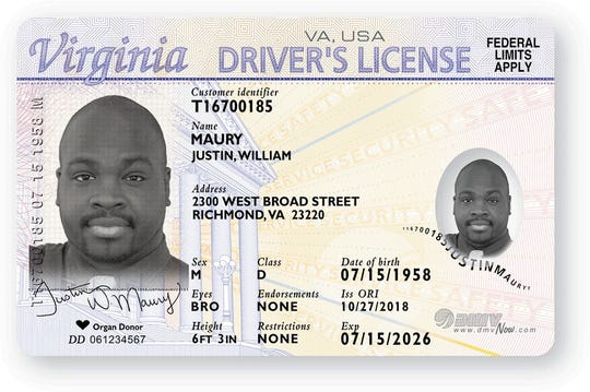 Example of a standard or non-REAL ID compliant driver's license, issued beginning Oct. 1, 2018.