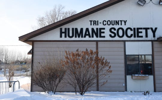 The Tri-County Humane Society building, pictured Wednesday, Dec. 18, 2019, was built in 1989. A new larger and better planned shelter is expected to open next summer.