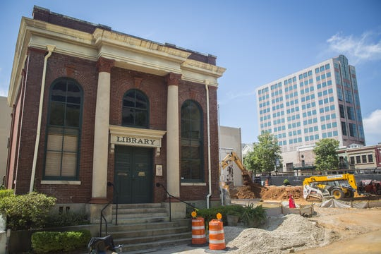The Walker Library remained unscathed by construction of the $20 million Ballard Building on southeast corner of Park Avenue and South Monroe street. It was Tallahassee's first Library.